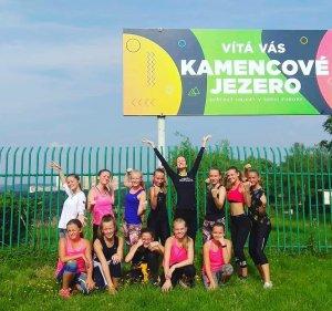 Soustředění týmů fitness step trenérek Lenky a Zuzany, Kamencové jezero - srpen